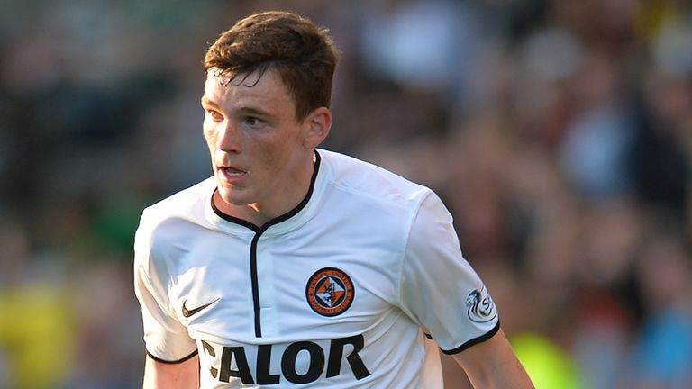 Andrew Robertson: First U21 call for the Dundee United defender