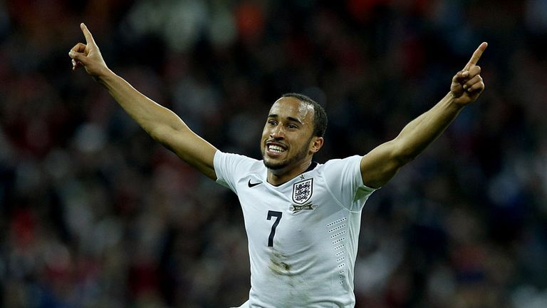 Andros Townsend celebrates his England goal