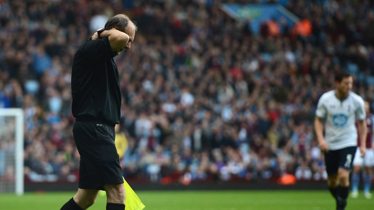 Linesman David Bryan: Struck by a flare at Villa Park