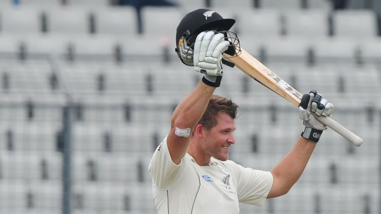 Corey Anderson: secured maiden Test century in only his second match