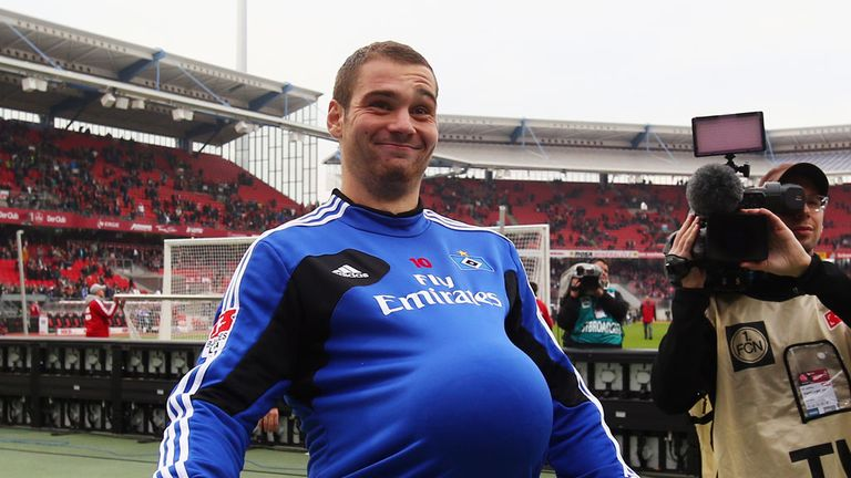 Pierre-Michel Lasogga: On loan at Hamburg but will be returning to Hertha Berlin