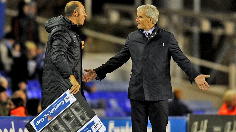 Mark Hughes: Stoke boss grateful to see his side progress in Capital One Cup