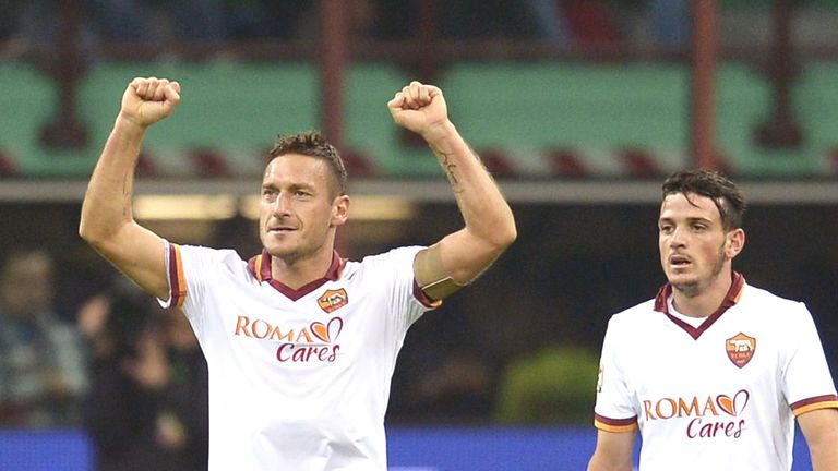 Francesco Totti: Believes his team sent a strong warning to their title rivals