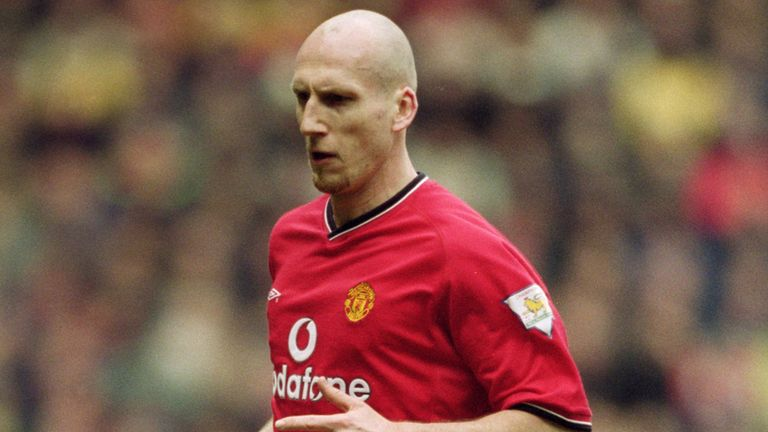 Jaap Stam partners Ronald Koeman at the heart of the defence