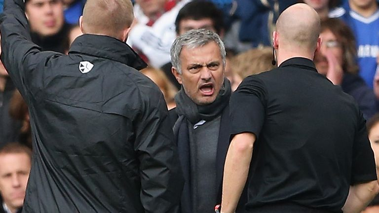 Jose Mourinho talks out his differences with Anthony Taylor last weekend