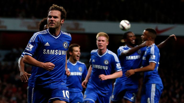 Juan Mata: Fires Chelsea to victory over Arsenal after being bench at the weekend