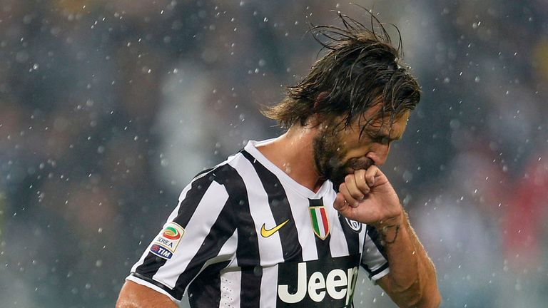 Andrea Pirlo: On target against his former club