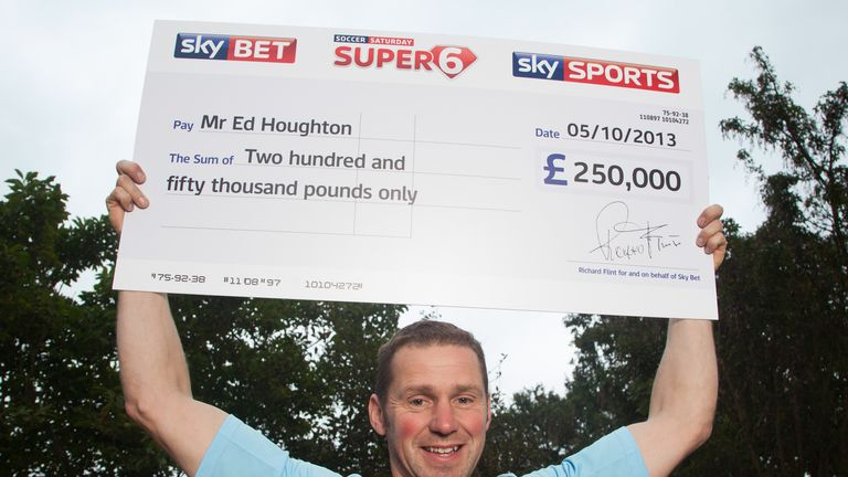 Super 6 jackpot winner Ed Houghton
