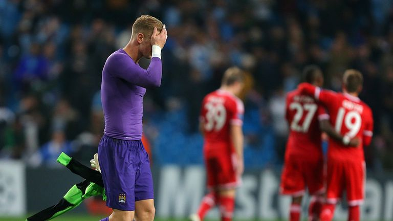 Joe Hart: A miserable night on Europe's big stage for the City keeper