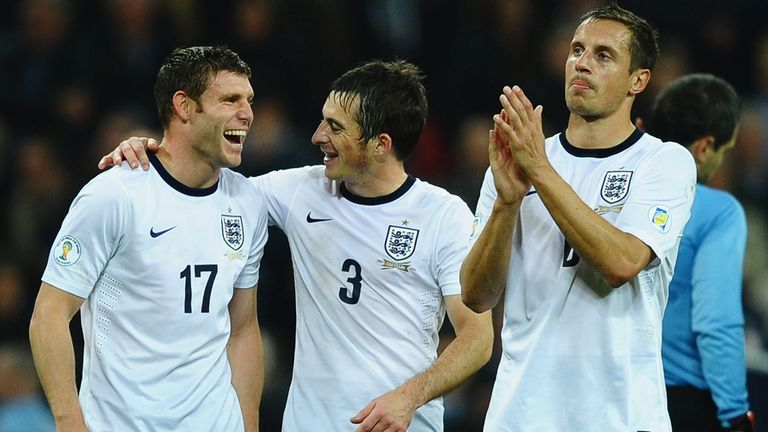 Phil Jagielka (right): England defender admits there are lessons to learn