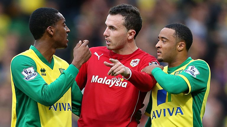 Leroy Fer (left): In the spotlight at Carrow Road