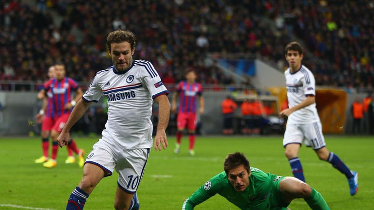 Juan Mata: Enjoyed the way Chelsea played in Champions League win over Steaua Bucharest