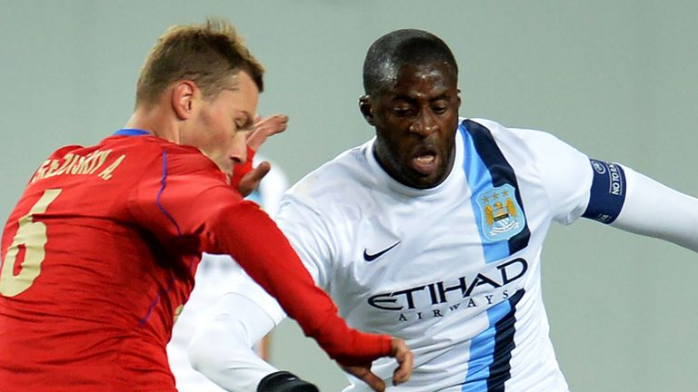 Yaya Toure (right): Accused CSKA fans of racist abuse
