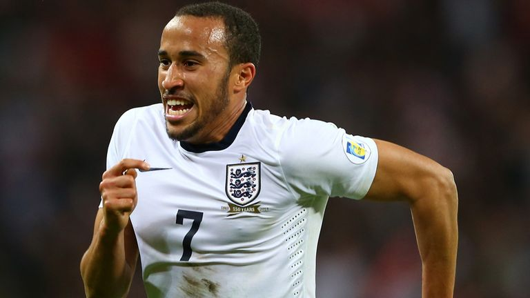 Andros Townsend: Took a knock against Montenegro