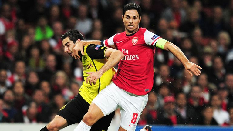 Mikel Arteta: Arsenal midfielder ready for Borussia Dortmund