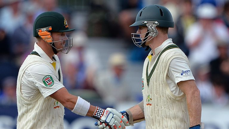 David Warner (left) and Chris Rogers: opened together in final two Ashes Tests in England