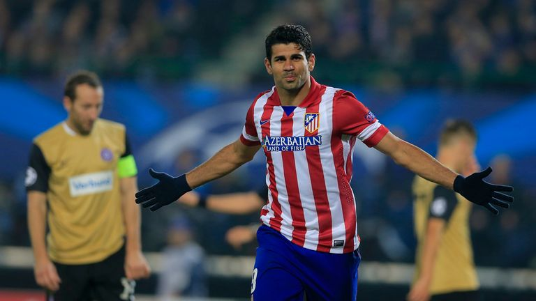 Costa wheels away after getting on the scoresheet as Austria Vienna were brushed aside