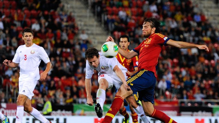 Michu made his only appearance for Spain in a 2-1 win over Belarus in October 2013