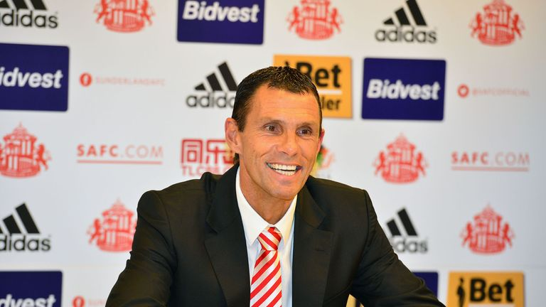 Gus Poyet: Says no talks on transfer cash yet
