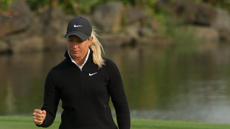 Suzann Pettersen: Has enjoyed a memorable first 36 holes