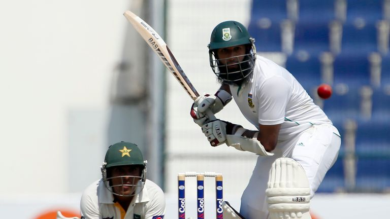 Hashim Amla: came to the crease in third over and remained unbeaten at the close
