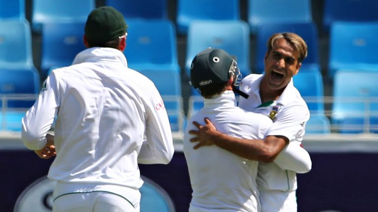 Imran Tahir: five wickets as Pakistan were skittled for 99