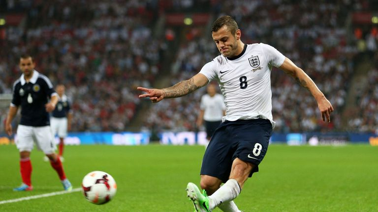 Wilshere in action against Scotland
