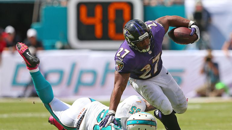 Ray Rice: Ran in for two touchdowns from close range