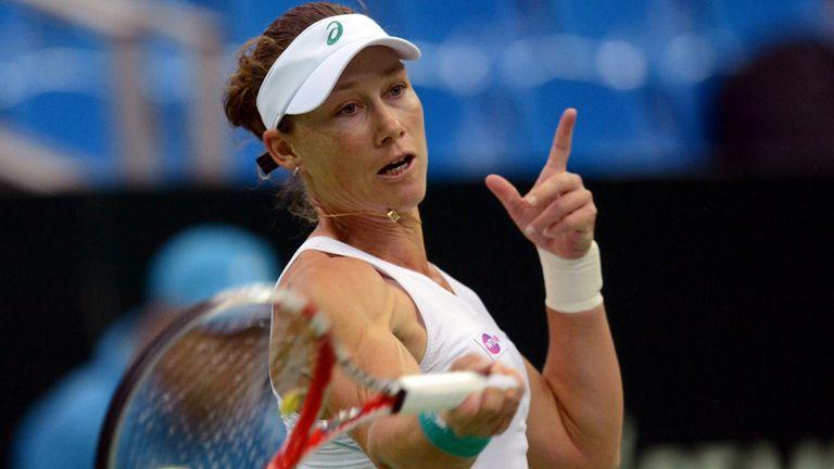 Sam Stosur: beat Tsvetana Pironkova to finish top of group