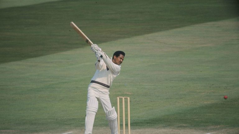Garry Sobers: West Indies all-rounder batting against England in 1973
