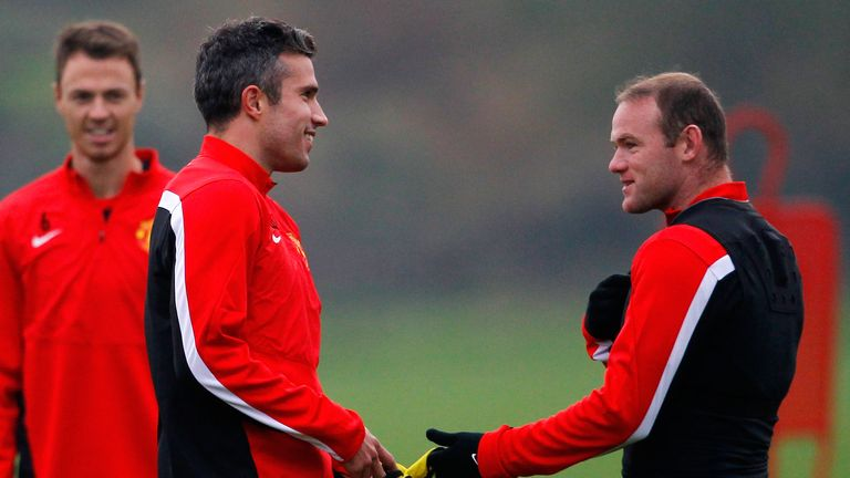 Robin van Persie and Wayne Rooney: Man Utd's strike duo