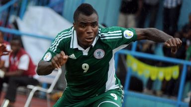 Emmanuel Emenike: Scored both goals for Nigeria