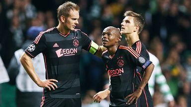 Ajax lost 2-1 at Celtic Park in Tuesday's Champions League encounter