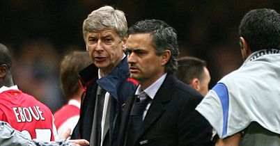 "Arsene Wenger and Jose Mourinho: ""No problems,"" according to the Chelsea boss"