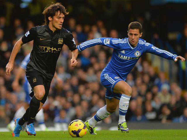 Silva gets away from Hazard.