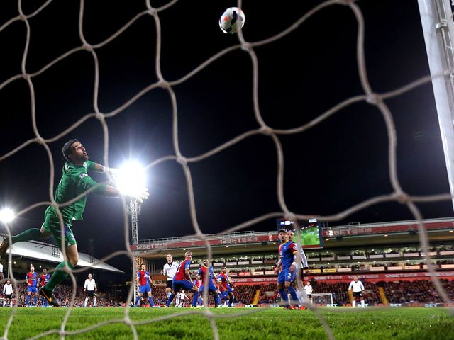 Sidwell's volley flies past Julian Speroni