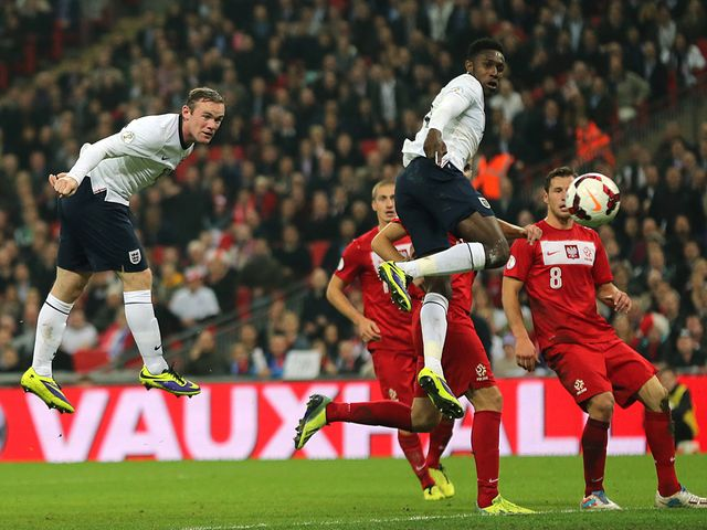 Wayne Rooney breaks the deadlock at Wembley