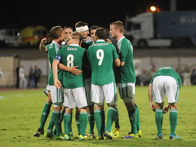 Northern Ireland celebrate Steven Davis' equaliser