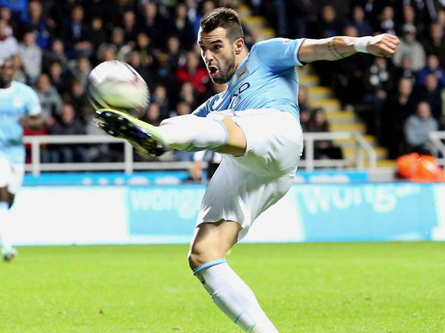 Alvaro Negredo in action for Manchester City