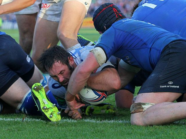 Pedrie Wannenburg of Castres fails to score a try