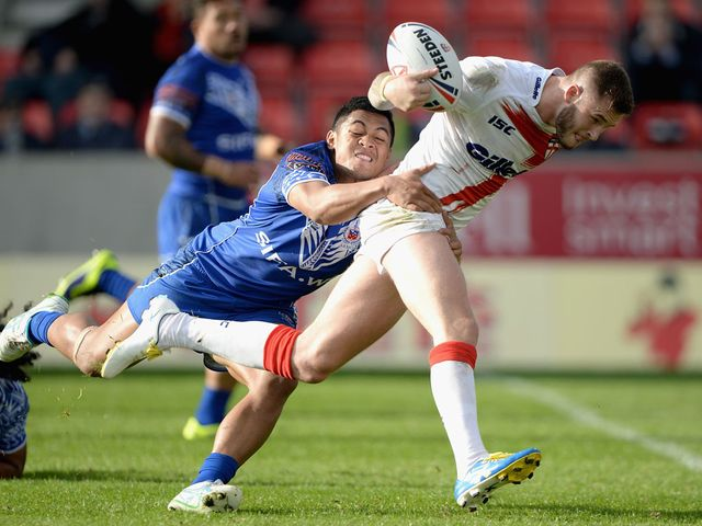 Zak Hardaker was man of the match for the England Knights
