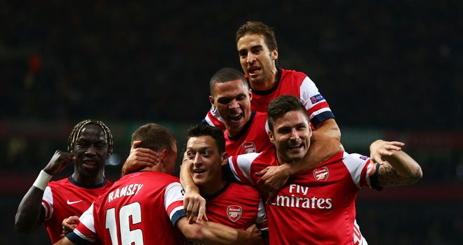 Arsenal: Arsene Wenger's men top the table on goals scored
