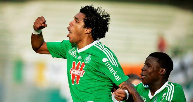 Brandao celebrates St Etienne's opening goal