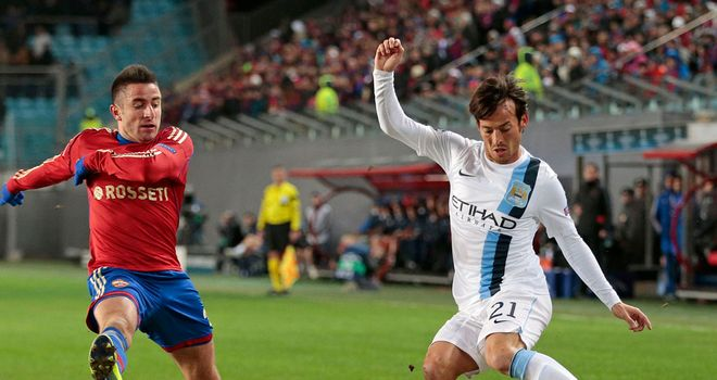 David Silva: Touched the ball 81 times in his 79 minutes against CSKA