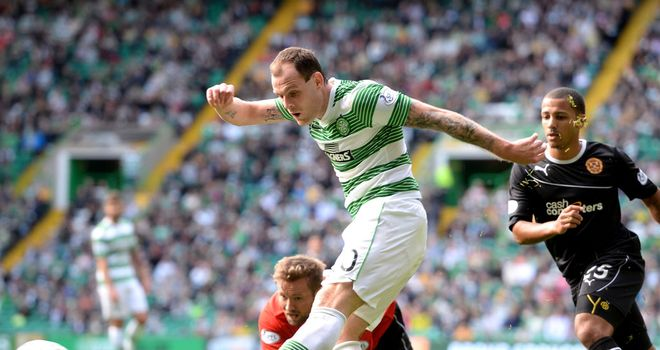 Anthony Stokes: Opening the scoring for Celtic against Motherwell
