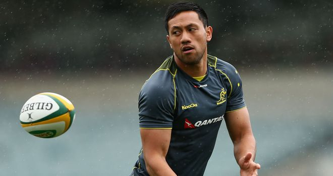 Christian Leali'ifano has been ruled out of Saturday's Bledisloe Cup match against New Zealand in Dunedin