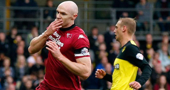 Sammon: Celebrates winner at Watford