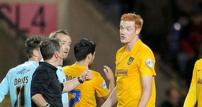 Dave Kitson: Received his marching orders
