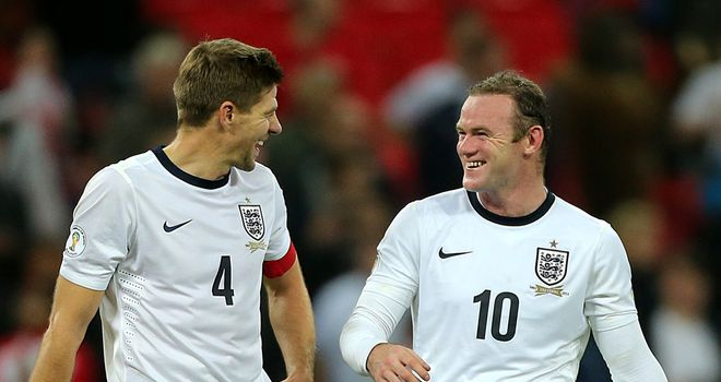 Steven Gerrard and Wayne Rooney were the goalscorers as England beat Poland