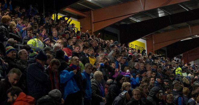 Fans at Ross County are forced to leave for home early